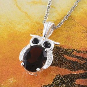 Jewelry - Brazilian Smoky Quartz, Thai Black Spinel Sterling